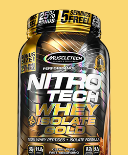 MUSCLETECH NITROTECH WHEY ISOLATE GOLD