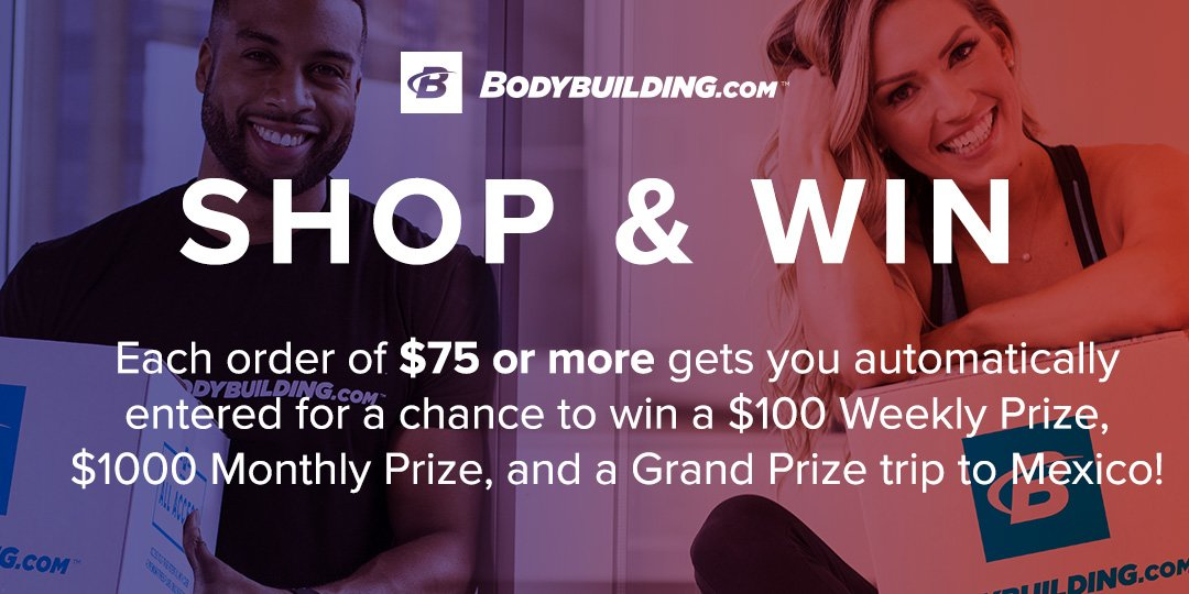 Shop And Win. Each order of $75 or more gets you automatically entered for a chance to win a $100 Weekly Prize, $1000 Monthly Prize, and a Grand Prize trip to Mexico!