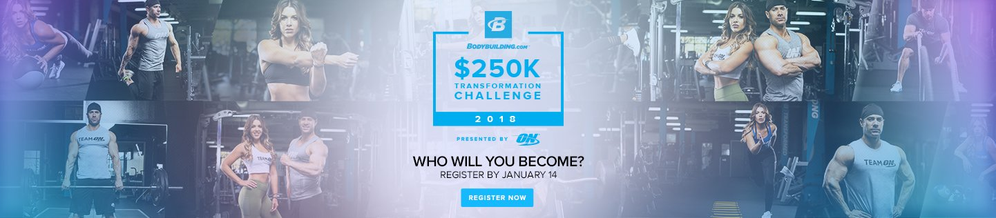 2018 Bodybuilding.com $250,000 Transformation Challenge
