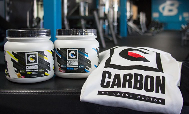 Carbon Prep, Carbon Recover, and a Carbon by Layne Norton Shirt.