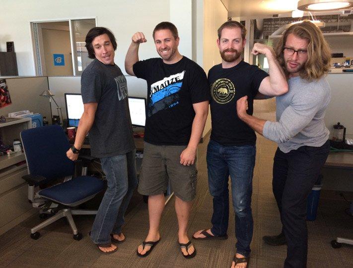 SEM bros pictured left to right: Dan Cubero, Lance Breckenridge, Derrick Hicks, Phil Sansotta
