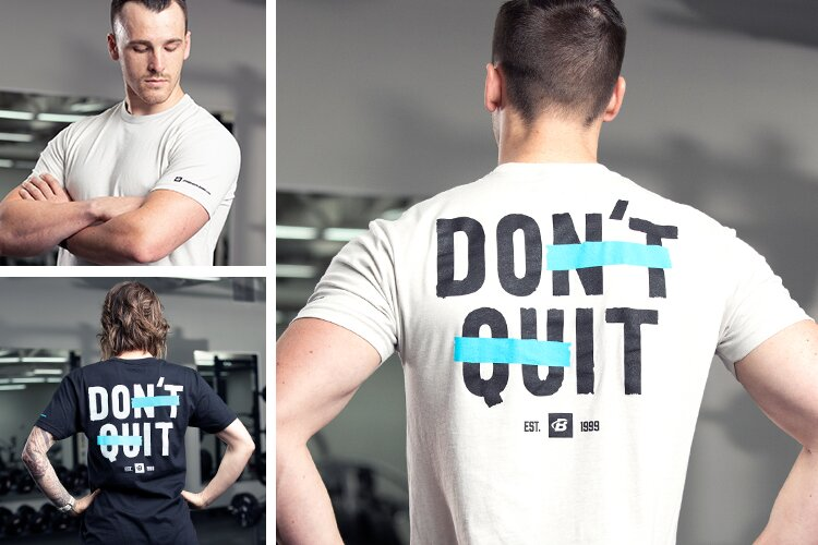 Don't Quit Tee - Lifestyle Image Grid