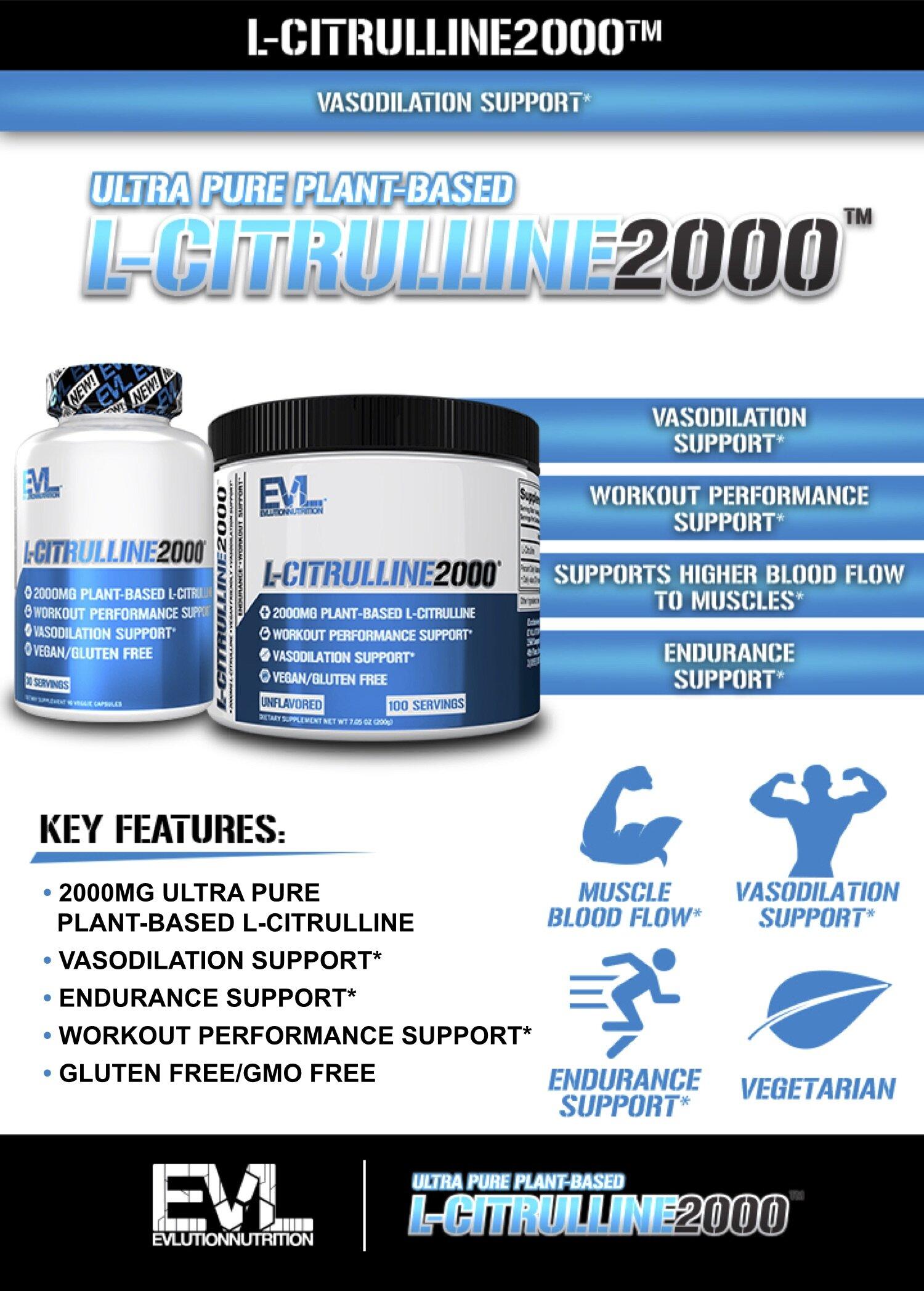 EVL L-Citrulline 2000