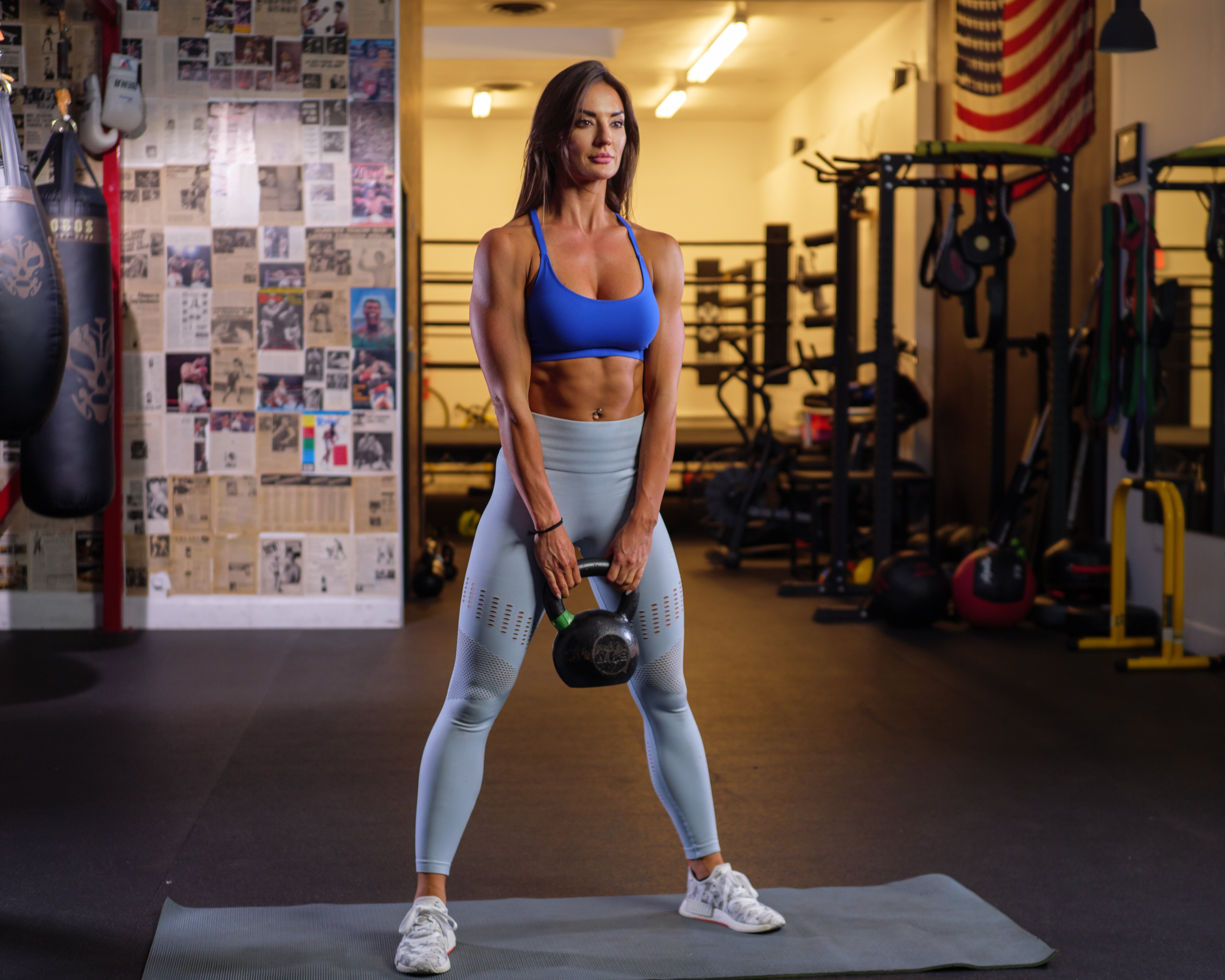Whitney Johns in gym