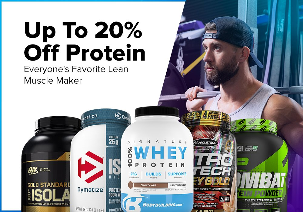 Up To 20 Off Protein This Week Only