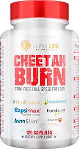 Cheetah Burn Stim Free Container