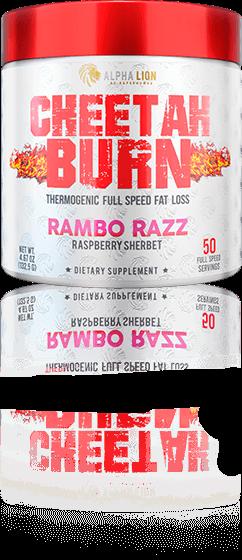 Cheetah Burn Rambo Razz Container