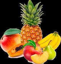 Mango, Papaya, Pineapple, Banana, Peach & Pear