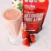 Organic Antioxidant Fruit & Fiber Shake