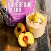 Organic Superfood Blend Shake with Peaches