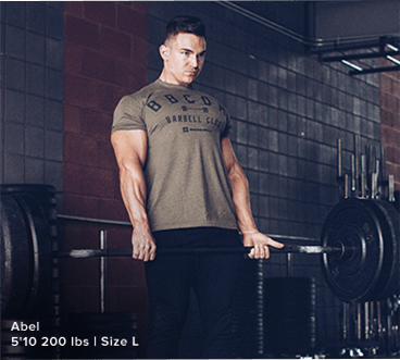 Green Shirt Male Model Doing Deadlifts