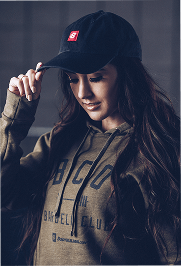 Dad Hat on Female Model Front
