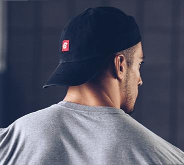 Dad Hat on Male Model Back