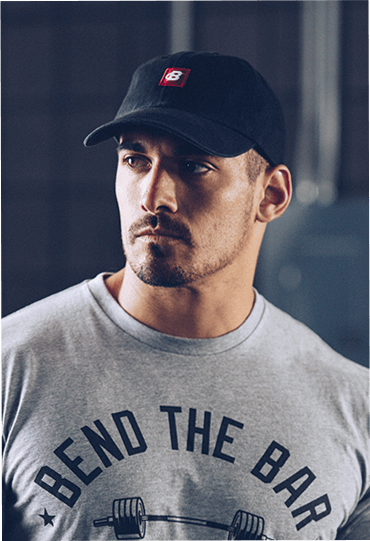 Dad Hat on Male Model Front