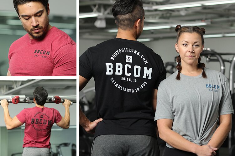 Bodybuilding.com Est. 1999 Coin Tee - pictures in the gym