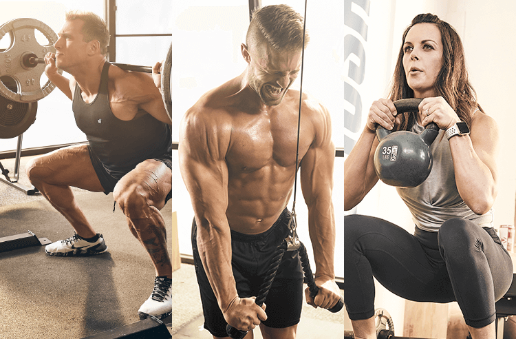 Dymatize Athletes Lifting Weights