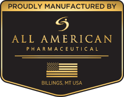 Proudly Manufactured By All American Pharmaceutical