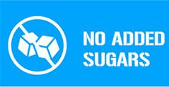 NO ADDED SUGARS
