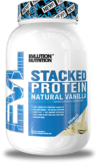 Stacked Protein Natural Jug