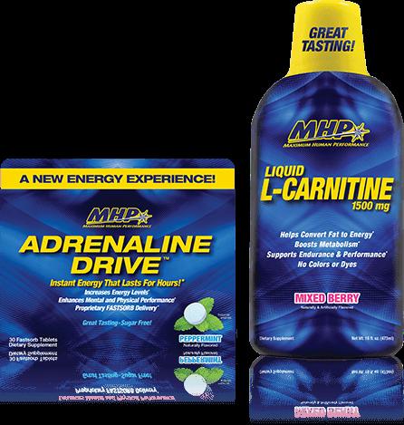 Adrenaline Drive & Liquid L-Carnitine 1500mg