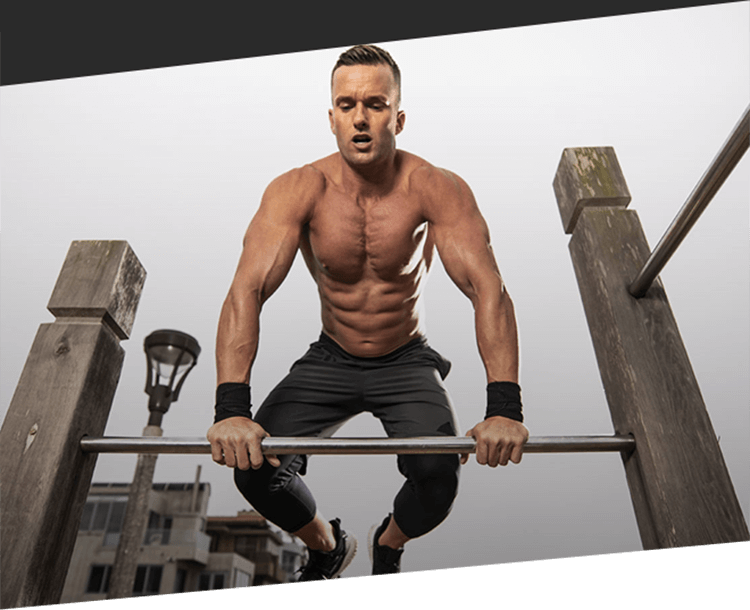 MuscleTech Athlete Jumping Over Bar