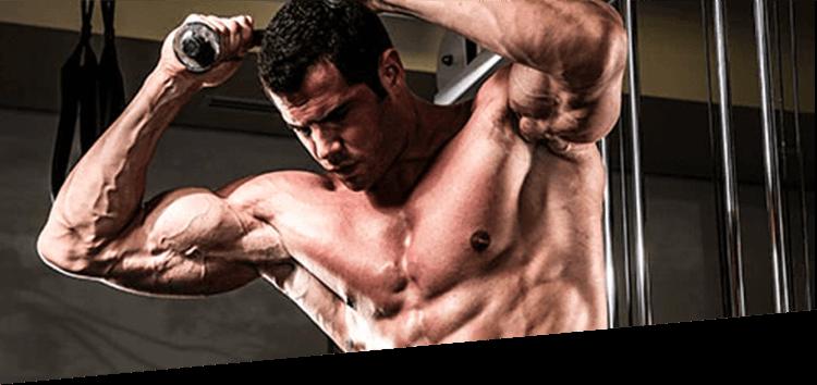 Athlete Doing Triceps Pulls