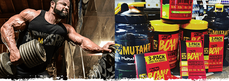 MUTANT Athlete with BCAA 9.7 Containers