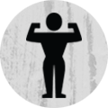 Flexing Athlete Icon