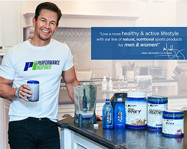 Mark Whalberg using Performance Inspired Products