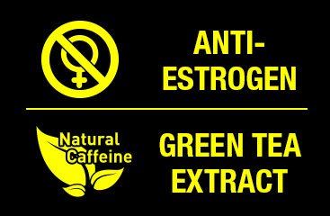 anti-estrogen complex with natural caffeine from green tea extract