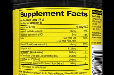 Supplement Facts Pannel