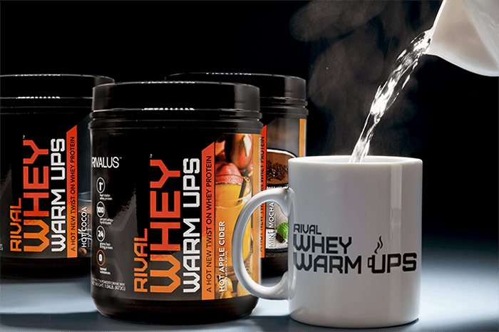 Rival Whey Warm Ups Containers & Cup