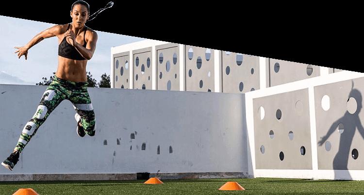 Athlete Jumping