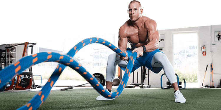 RSP Athlete on Battle Ropes
