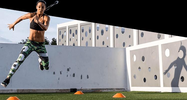 Jumping Athlete