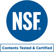 NSF | Contents Tested & Certified
