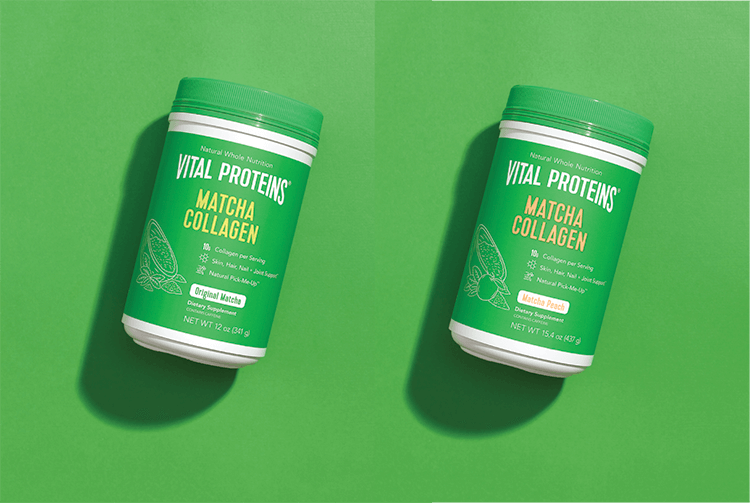 Matcha Collagen Containers