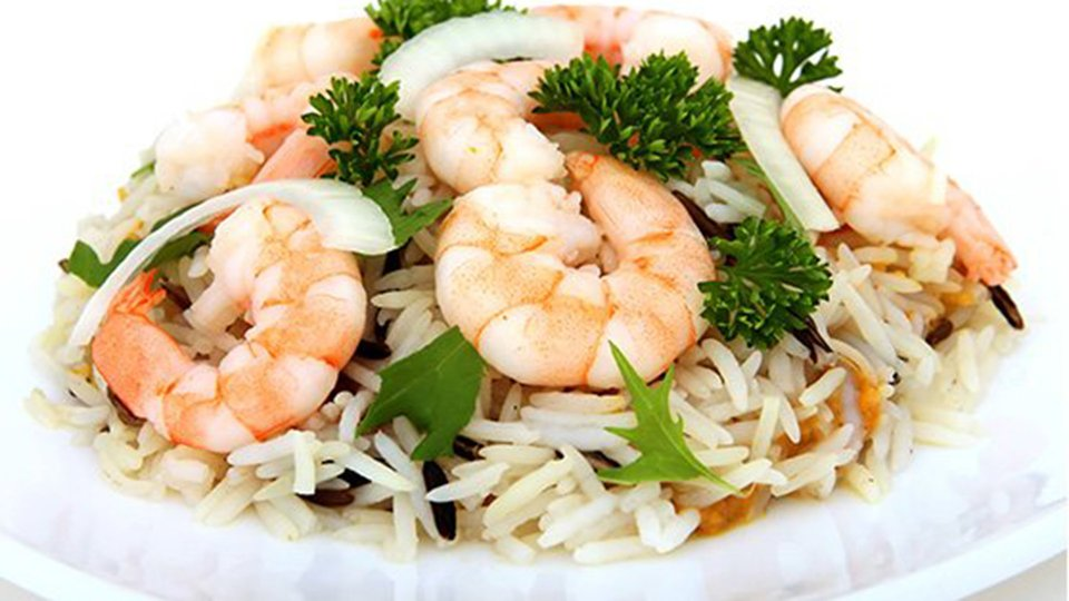 Curry Shrimp on Rice