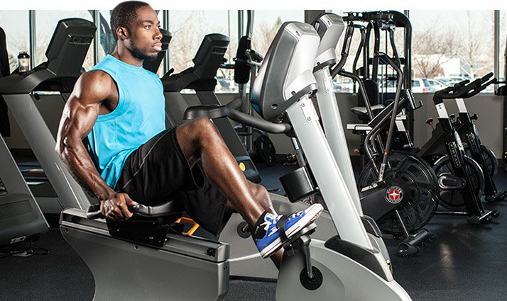 An elliptical trainer or stationary bike may be easier on your knees.