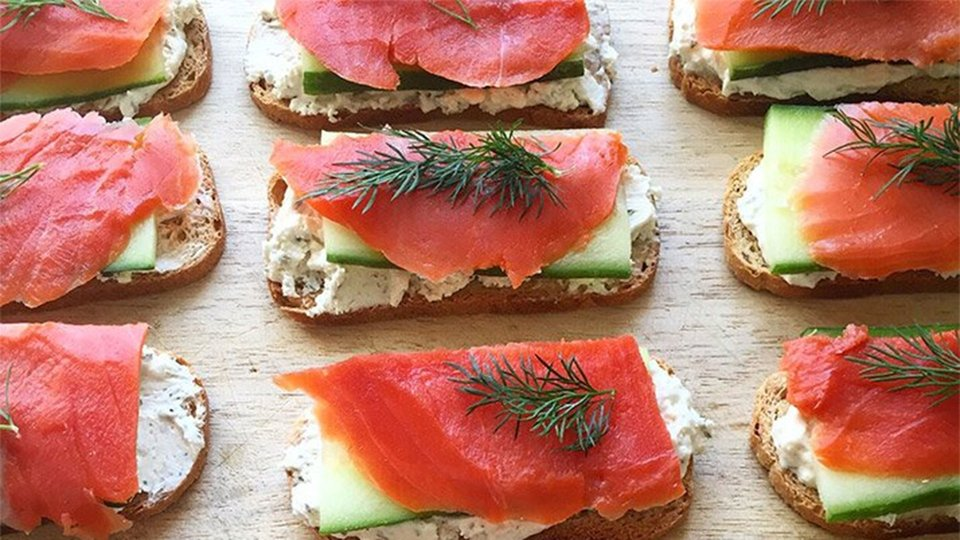 Smoked Salmon And Baby Dill Crostini