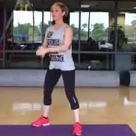 Squat pulse jump