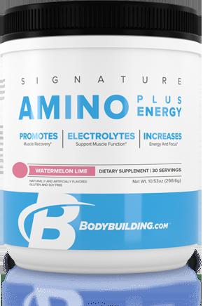 Bodybuilding.com Signature Amino Plus ENergy tub