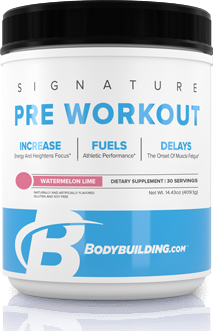 Bodybuilding.com Signature Pre-Workout tub