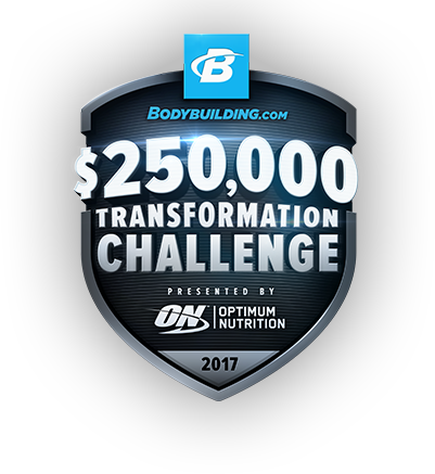 Bodybuilding.com $250,00 Transformation Challenge. Presented by Optimum Nutrition. 2017